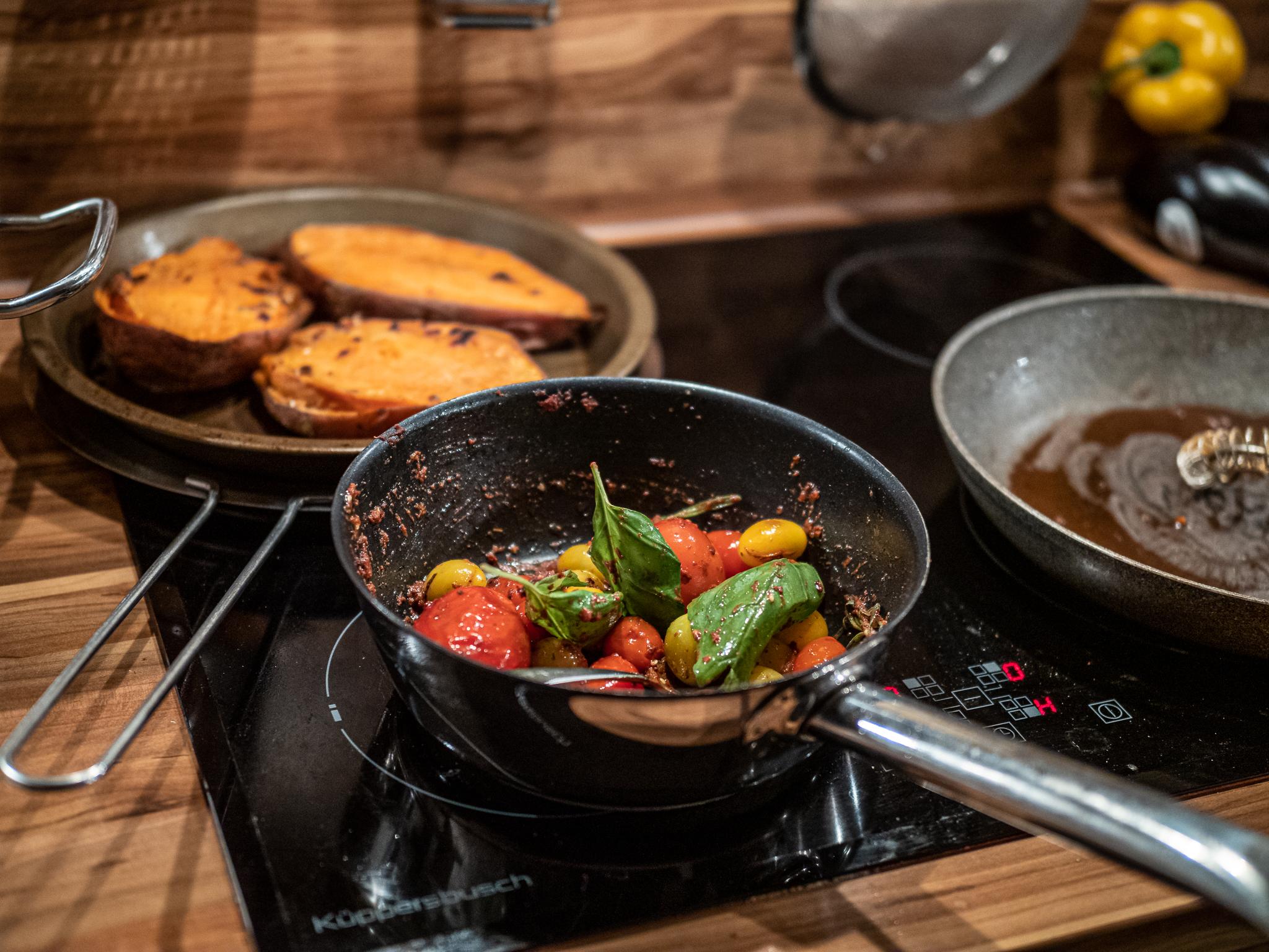 Steak vom Sylter Galloway Rind mit gebackenen Süßkartoffeln