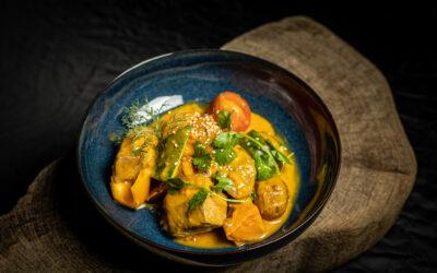 Curry vom Lammgulasch mit Ofengemüse für 4 Personen